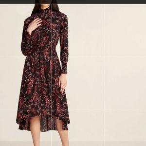 Nanette Lepore Dragon fruit asymmetrical dress
